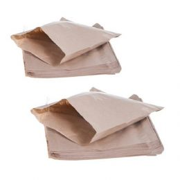 "7 x 7"" Brown Sulphite Strung Paper Food Bags"